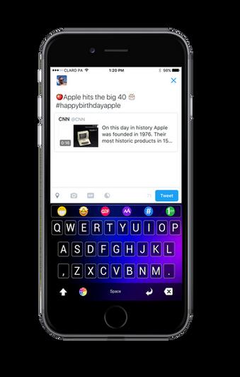 Best twitter keyboard app