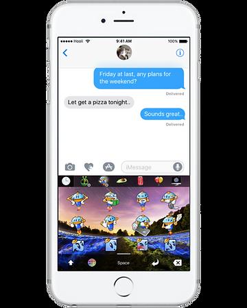 Best apple iOS keyboard stickers, gifs