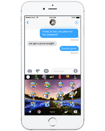 Best apple iOS keyboard stickers, gifs