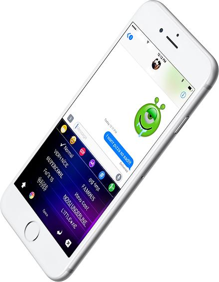 iOS font keyboard