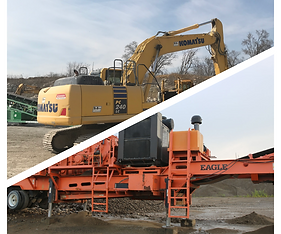 Eagle Crusher, Komatsu Excavator,Deere Equipment, CAT equipment