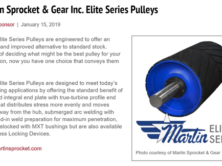 The New Elite Series Pulley from Martin Sprocket and Gear