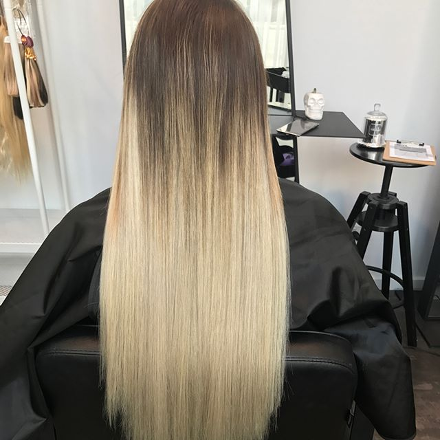 What a transformation! No bleaching required for this beauty just adding some platinum blonde premiu