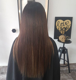 And another of it straight 😍😍 #hairenvy #expertcolourmatch #hairperfection #hairenvy