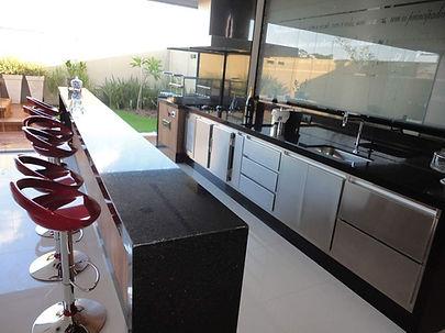 cozinha churrasqueira balcao refrigerado
