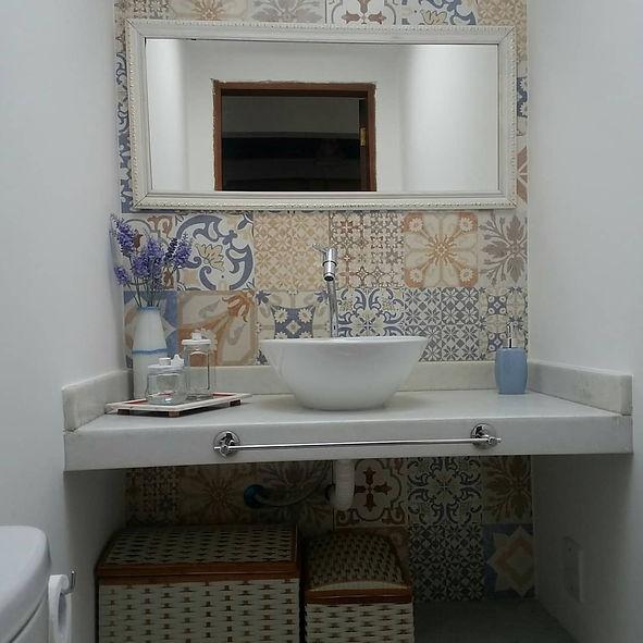 lavabo banheiro bwc ladrilho hidraulico.