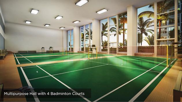Multipurpose Hall with 4 Badminton Court