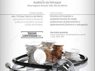 """Últimas vagas para a Palestra """"Contratos de Saúde em debate: reajustes e reflexos econômicos&qu"""