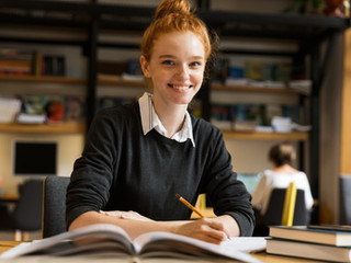 Girl Studying at University