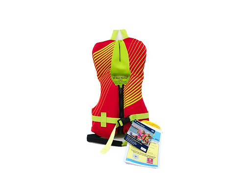 WEST MARINE Deluxe Kids' Rapid Dry Life Jacket, Infant Under 30lb., Red/ 兒童救生衣