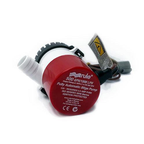 Rule 500GPH Fully Automatic Bilge Pump 12V 2.5AMP/ Rule 500GPH全自動艙底泵12V 2.5AMP