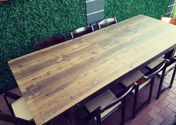 Farm Table and Fruitwood Chair