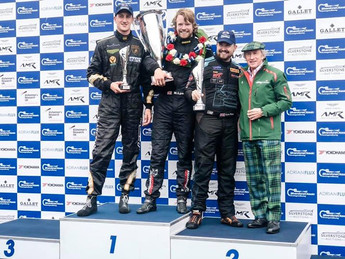 Silverstone Classic Podium with Kyle Tilley