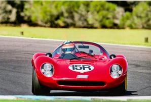 Kyle Tilley in a Ferrari Dino