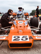 Kyle Tilley coaching Philip Lewis in a Matich F5000