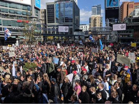 Toronto Freedom Rally October 17, 2020
