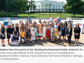 First Lady Melania Trump, hosted the launch of the Building the Movement Exhibit:
