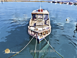 bateau amarre