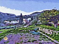 le village de Roussa en hiver