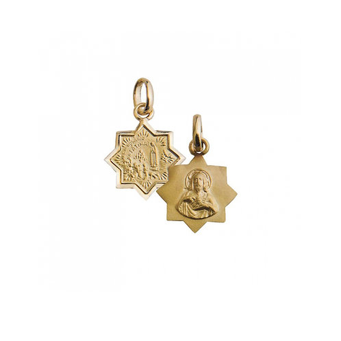 Medalha Escapulário N.S. FÁTIMA |  S C Jesus Ouro 19K