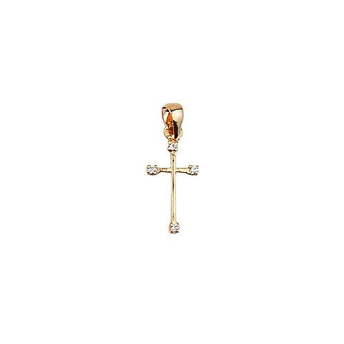 Cruz com Pedras Ouro 19K