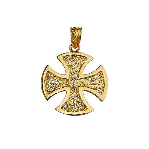 Pendente ' Cruz de Malta' em Filigrana