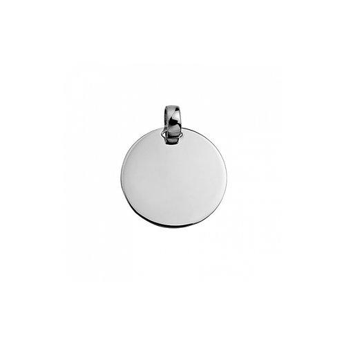 Medalha MENSAGEM 1.5 cm branco
