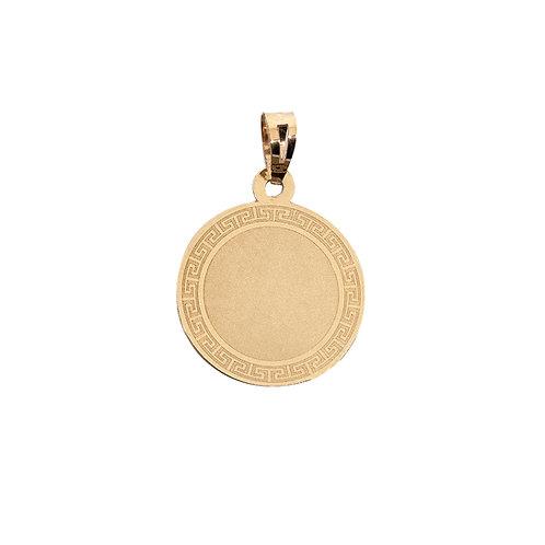 Medalha redonda CERCADURA Ouro 9K