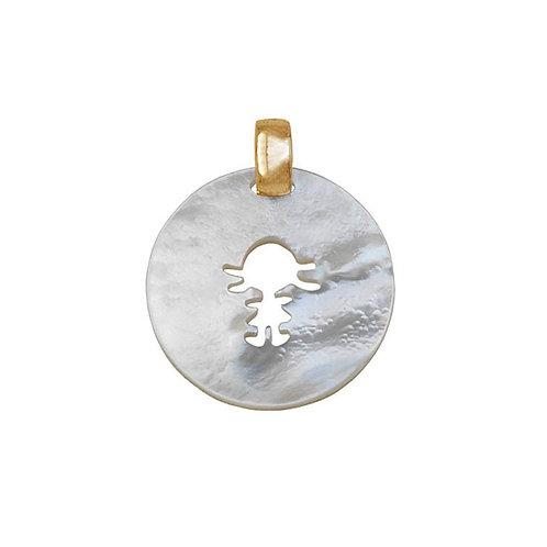 Medalha  madrepérola MENINO/A  My Passion