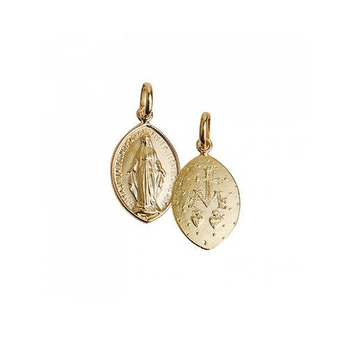 Medalha MILAGROSA 2 cm Ouro 19K