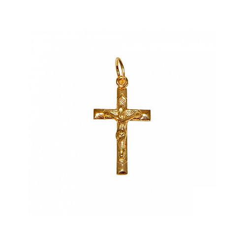 Cruz com Cristo trabalhada Ouro 19K
