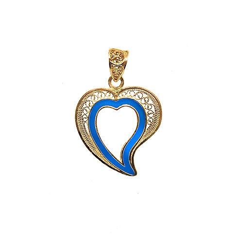 Coração de Jesus Aberto Esmaltado 3.5 cm