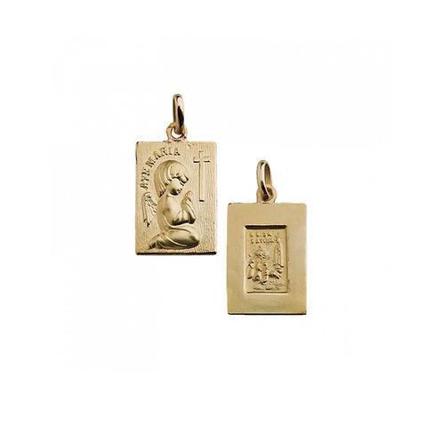 Medalha Escapulário AVÉ MARIA Ouro 19K