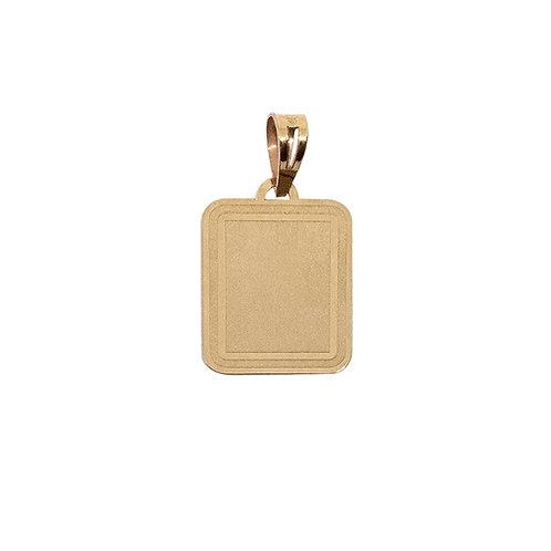 Medalha retangular LISA Ouro 9K