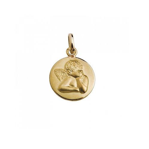 Medalha ANJO Barroco Ouro 19K