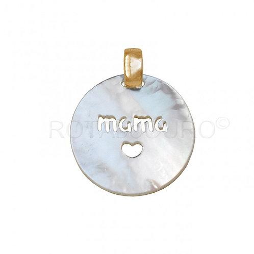 Medalha Madrepérola 'MAMÃ'