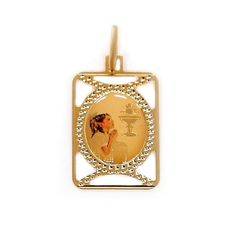 Medalha COMUNHÃO Menina Ouro 19K