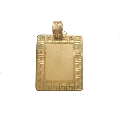 Medalha retangular CERCADURA Ouro 9K