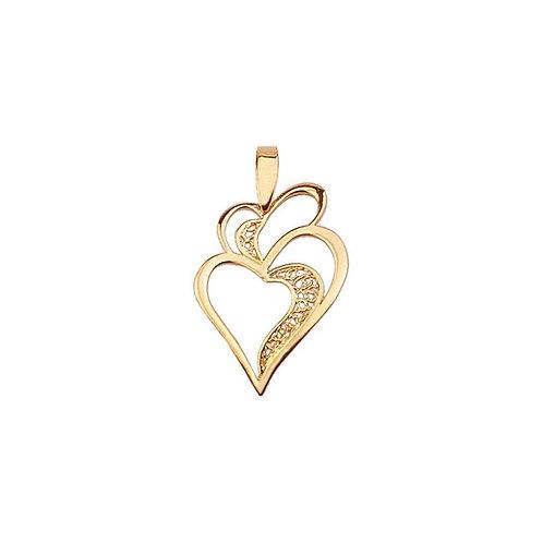 Coração AMOR Ouro 19K