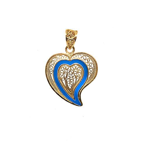 Coração de Jesus Esmaltado 3.5 cm