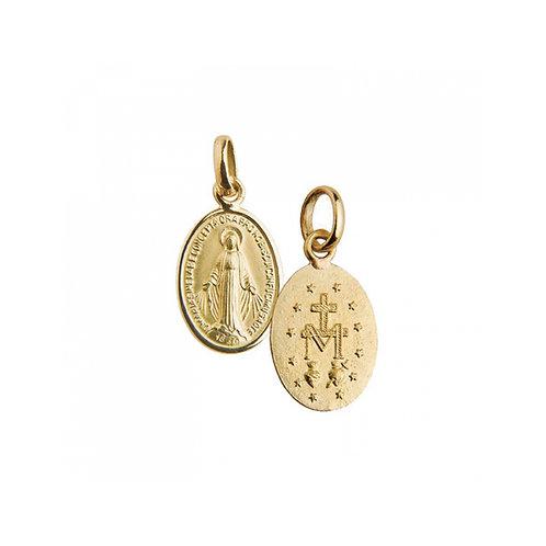 Medalha MILAGROSA 1.5 cm Ouro 19K