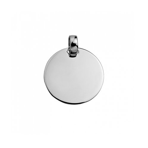 Medalha  MENSAGEM 2,5 cm branco
