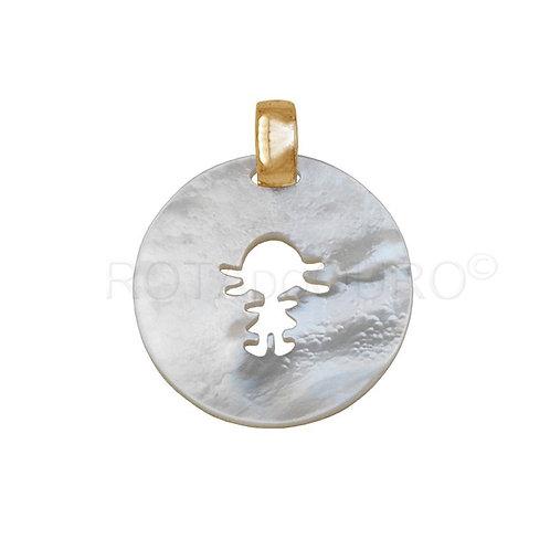 Medalha Madrepérola 'MENINO/A'