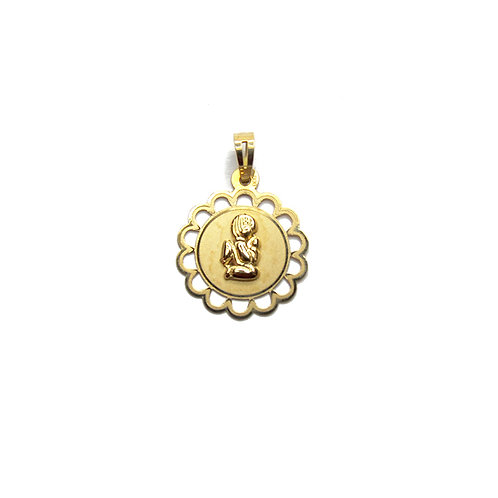 Medalha Redonda ANJO  Ouro 19K