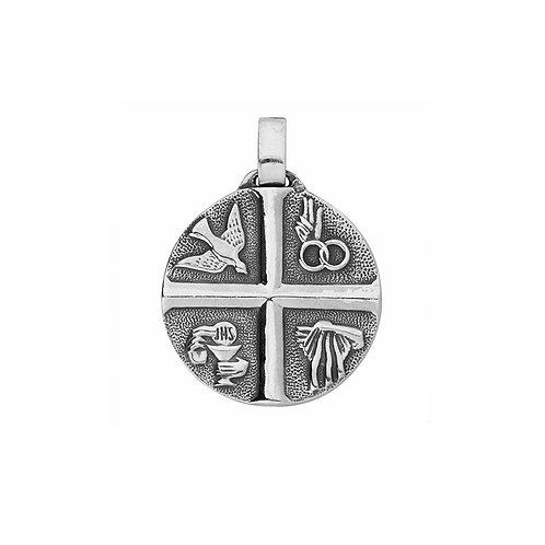 Medalha SACRAMENTOS Prata