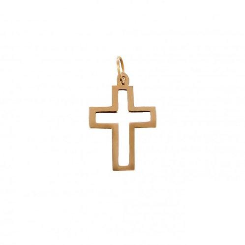 Cruz quadrada L Ouro 19K