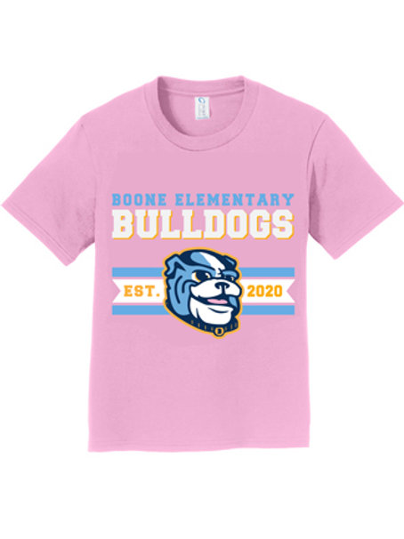 Pink Boone Bulldogs Shirt- Cotton
