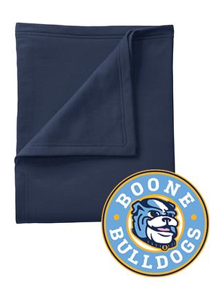 Navy Sweatshirt Blanket