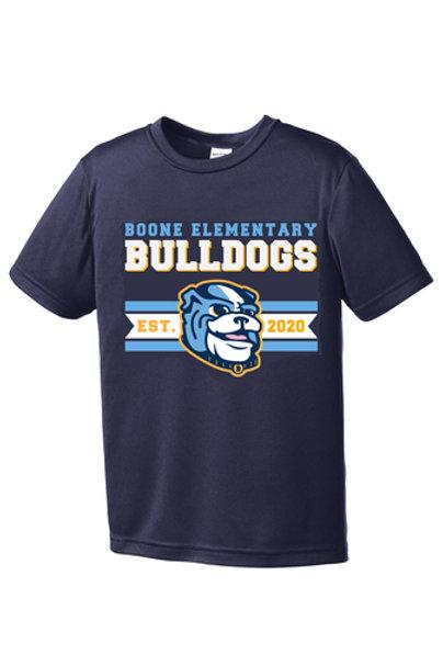 Navy Boone Bulldogs- Drifit T