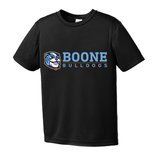 Black Boone Bulldogs Shirt- Dri-fit